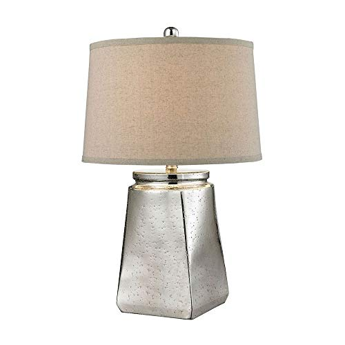 Dimond Lighting Mercury Glass Tapered Square Table Lamp