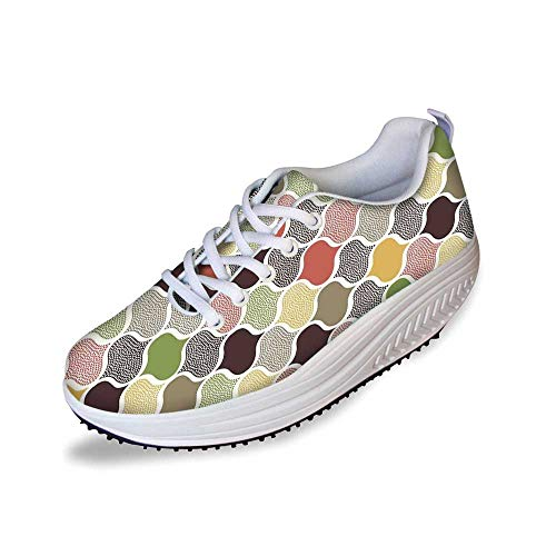 Modern Decor Stylish Shake Shoes,Seamless Oriental Geometric Morrocan Doodle Pattern with Dots - Bathroom Morrocan Mirrors For