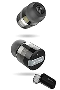 Rowkin Micro: True Wireless Earbuds w/ Charging Case. Bluetooth Headphones Smallest Cordless Hands-free Mini Earphones Headset w/ Mic & Noise Reduction for Android, Samsung & iPhone (Black)