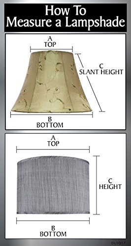 Aspen Creative 32181 Transitional Hardback Empire Shape Spider Construction Lamp Shade in Grey, 13'' wide (7'' x 13'' x 9 1/2'') by Aspen Creative (Image #5)