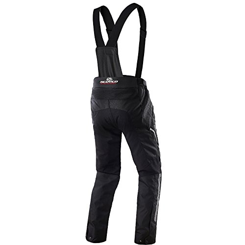SCOYCO Motorcycle Waterproof Riding Pants with Removable CE Armor (Black, XX-Large)