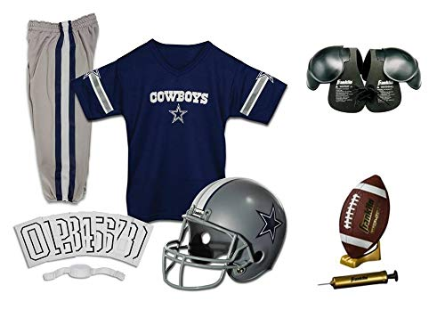 Franklin NFL Dallas Cowboys Youth Licensed Deluxe 9-pc Uniform Set, Small -