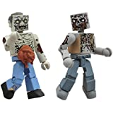Diamond Select Toys Walking Dead Minimates Series 1: Herd Zombies, 2-Pack