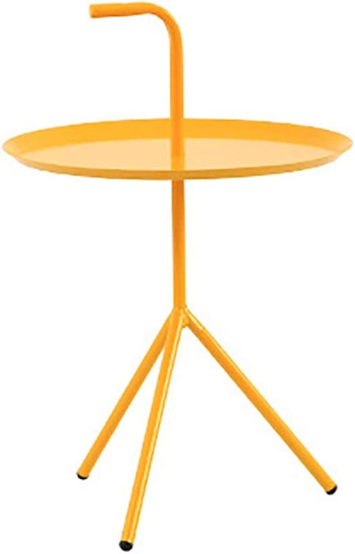 2020 Lw coffee table kleine salontafel ronde ijzeren Nordic smeedijzer kleine salontafel/einde/lamp/salontafel, ijzer Geel pf2reuv