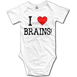YFF 6-24 Months Classic Children I Love Brains Bodysuit