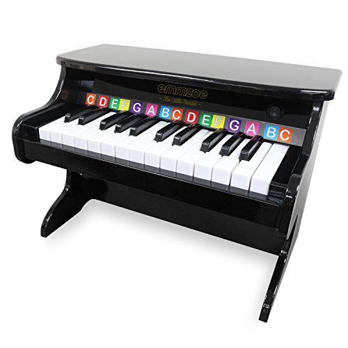 """(Emmzoe """"The Little Pianist"""" 25 Key Toddler Electric Piano with Easy to Learn Songbook - Glossy Black Finish)"""