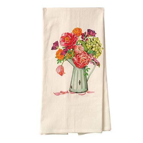 Mary Lake-Thompson Ltd. Women's Floral Tea Towel - Decorative Cotton Flour Sack Cloth