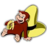 "Curious George Banana vynil car sticker 5"" x 4"""