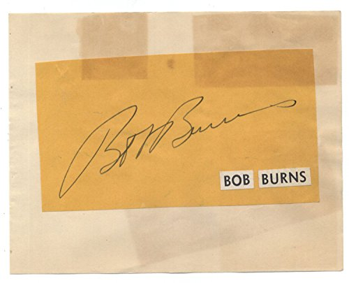 Bob Burns (d.1956) Cut Signature Page- Comedic Entertainer