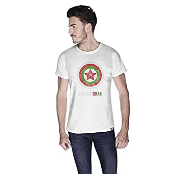 Creo Captain Oman T-Shirt For Men - Xl, White