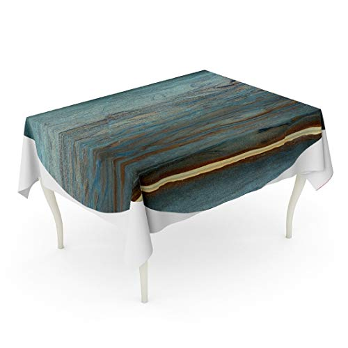 Tarolo Rectangle Tablecloth 60 x 90 Inch Blue Gloss Unique of Natural Stone Marble Onyx Opal Granite Green Hard Architecture Bathroom Table Cloth