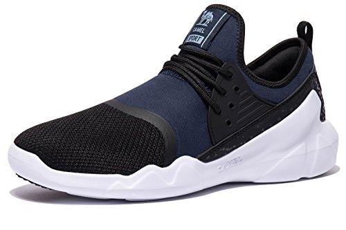 Senderismo blue Ligeros Zapatos Gimnasia Calzado Entrenamiento Camel Zapatillas Hombres Cómodas Black Deportivas Andar Corriente Para fnCwqT