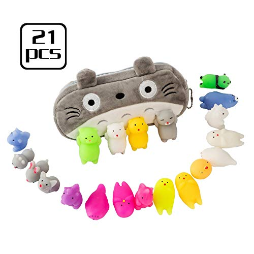 Squishies Toys Mini Soft Animal Squeeze Stress Toy 20 Pcs Soft Stretchy Cute Release Gift The Cat Portable Bag