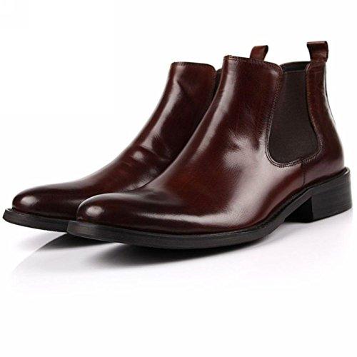 Cerniere Marrone Pelle Shoe Da In Stivaletti Scarpe Chelsea Uomo Classici Wuf Laterali xnZ01g7q1