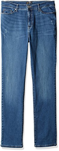 LEE Women's Size Fit Rebound Slim Straight Jean, Indie Sky, 18 Tall (Tall Womens Jeans)