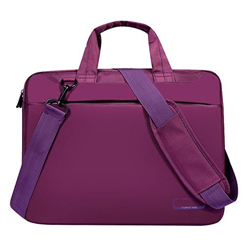 SODIAL(R) Laptop bag case 17 inch Nylon airbag shoulder handbag computer bags Waterproof Messenger Women men Notebook bag£¨Purple No Airbag£© 092530A4