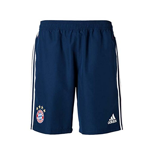 2017-2018 Bayern Munich Adidas Woven Shorts (Navy) - Kids