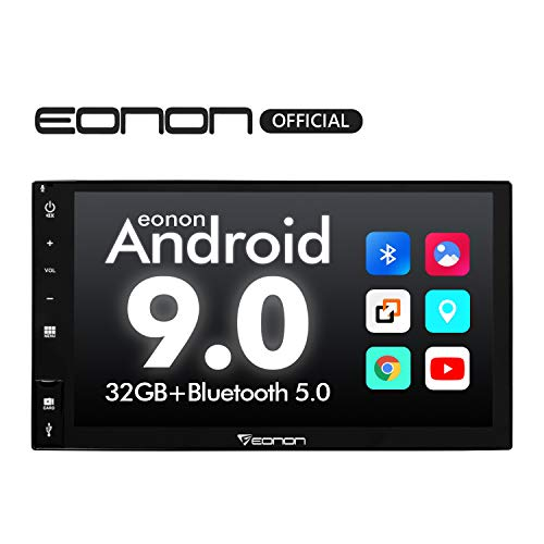 Car Stereo,Double Din Car Stereo Eonon Android 9.0 Car Radio, 7 Inch 32GB ROM Car GPS Navigation Head Unit, Support Android auto, Carplay, Fastboot Bluetooth, WiFi Connection (NO DVD/CD)- GA2177 (Best Double Din Head Unit For Android)