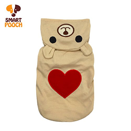 Puppy Dog Pet Extra Cute Lovely Bear Design Stylish Hoodie Clothings Jumpsuit Jacket Coat Costume Outfit Sweatshirt Doggy Clothes by Smart Pooch -