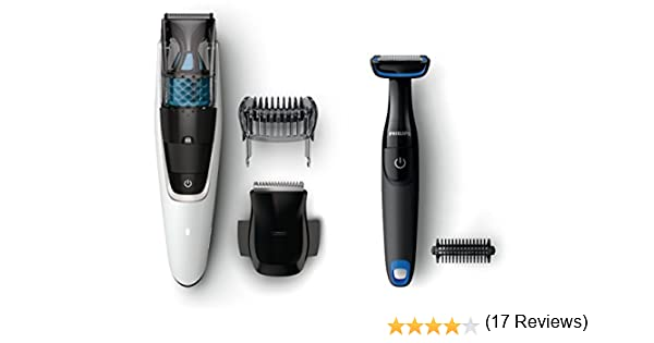Philips BEARDTRIMMER Series 7000 BT7204/85 Negro, Color blanco ...