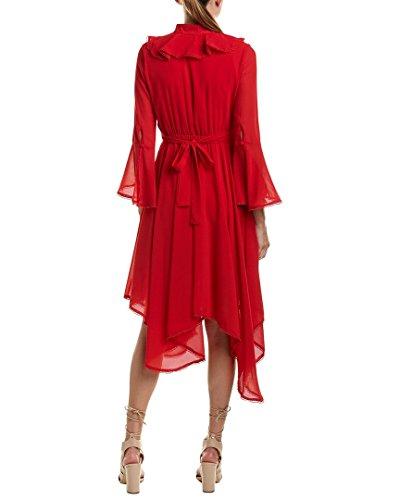 Beulah Des Femmes De Robe De Midi Cloche Manchon, S, Rouge