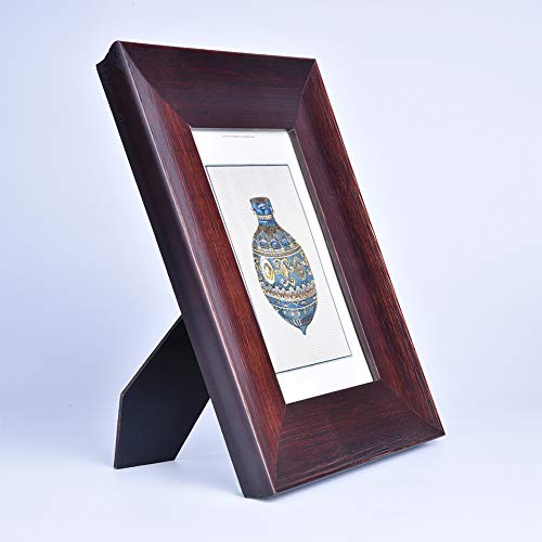 4x6 Inch Photo Frame, Solid Wood Double Vertical Picture Frames, with High Definition Acrylic Front-Brown