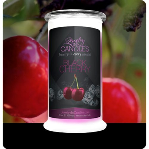 Jewelry in Candles Candle ~~ Black Cherry by Jewelry In Candles