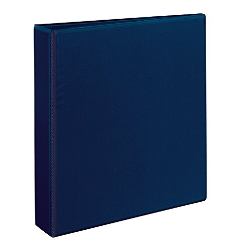 Avery Heavy-Duty View Binder with 1.5-Inch One Touch EZD Ring, Navy Blue (79805) Basic D-ring