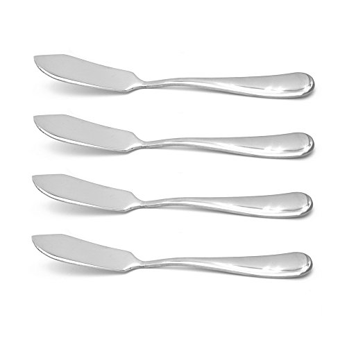 Crysto Stainless Steel Butter Knife, Set of 4, Butter Spreader,Serve Your Butter, Breakfast Spreads,Cheese and Condiments
