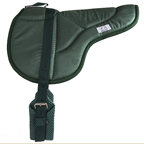 Best Friend English Style Bareback Pad, Hunter Green, Pony Size ()