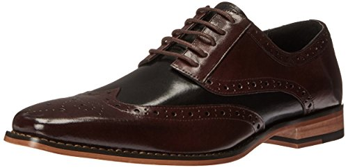 Mens Burgundy Oxfords - STACY ADAMS Men's Tinsley-Wingtip Oxford, Burgundy/Black, 12 M US