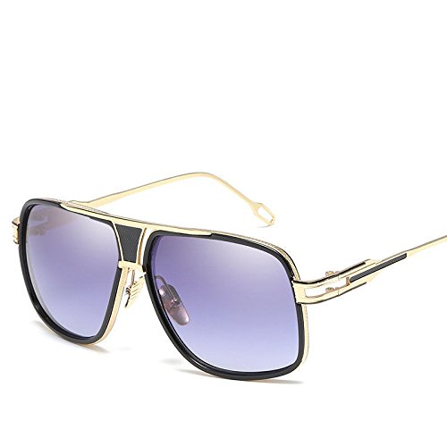 de de H Grande Sol Redonda Gafas Moda de Elegante GUO Caja E Sol Cara Gafas apxHwP