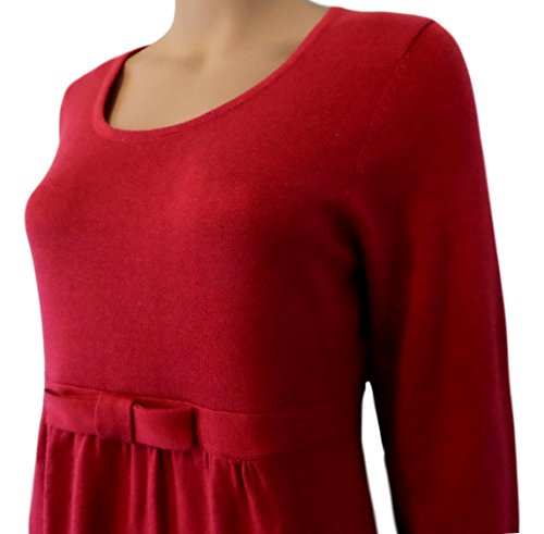 Strawberry Hill Cottage - Robe spécial grossesse - Pull - Manches Longues - Femme Rouge Red