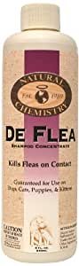 DeFlea Shampoo Concentrate, a Concentrated Flea Shampoo for Dogs, 8-Ounce