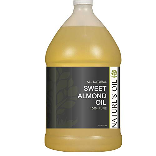 Sweet Almond Oil Gallon - 100% Pure Carrier for Massage, Diluting Essential Oils, Aromatherapy, Hair & Skin Care Benefits, Moisturizer & Softener - by Nature's Oil. (Gal Massage Oil)