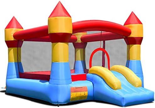 COSTWAY Castillo Hinchable con Tobogán para Niños 370x280x230cm Infantil Juguete para Parque Patio Jardín: Amazon.es: Juguetes y juegos