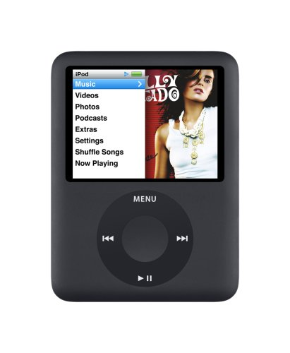 Apple iPod nano 8 GB 3rd Generation(Black)  (Discontinued by Manufacturer) (Nano Gadgets Ipod)