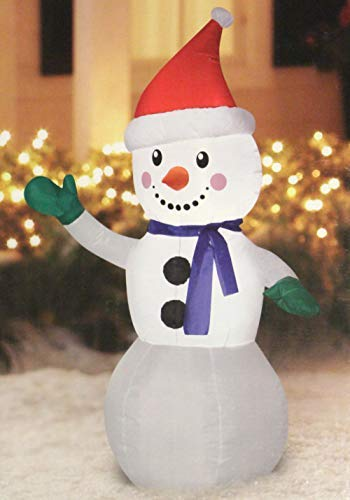 Holiday Time Airblown Inflatable Snowman, 4 Feet Tall