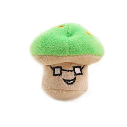 - COPPEN 2018 New Dog Puppy Chew Toy Squeaky Plush Sound Cute Vegetable Mushroom Design Toys (Green)