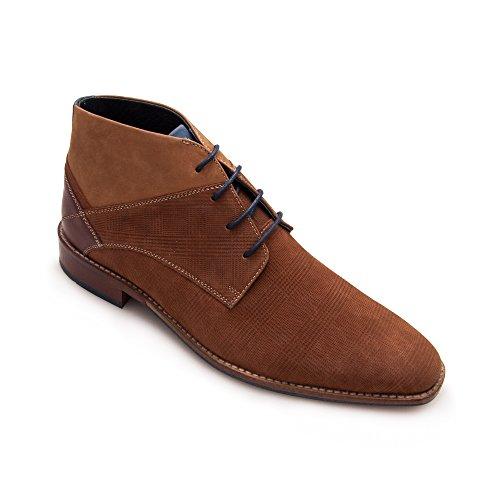 Zerimar Botín de Piel Para Hombre Zapato Elegante Para Hombre cogñac