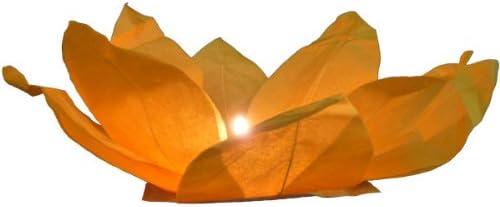 Lot de 10 lanterne flottante en papier tha/ï multicolore bougie chauffe plat comprise Nymphea forme fleur de Lotus manifestation nocturne d/écoration romantique piscine bassin lac fleuve lumi/ère nautique eau mariage anniversaire
