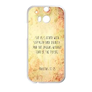Strength And Dignity HTC One M8 Cell Phone Case White K2777003