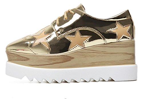 Xdgg 2017 40 Épaisses Femmes Gold Loose Talon Unique Chaussures Casual r5Prwq