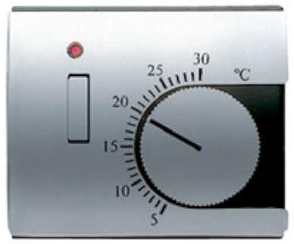 Niessen olas - Tapa termostato calefacción con interruptor serie olas blanco jazmin