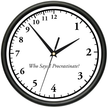 Image result for procrastination clock