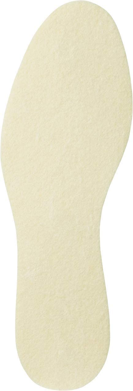Pedag Pure 2 Pair Merino Wool Flat Insole with Airy Perforated Latex Grip Bottom Ultra Thin, US M13EU 46, 3.0 Ounce