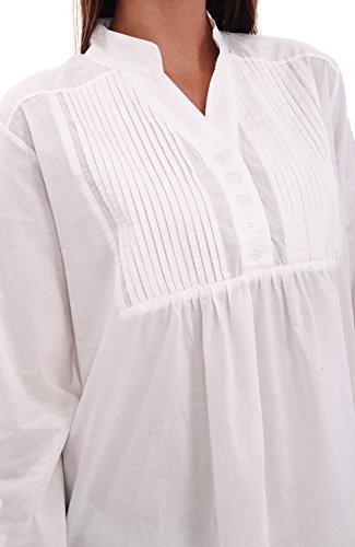 Del Rossa Womens Guinevere Cotton Nightgown, Long Poplin Victorian Sleepwear