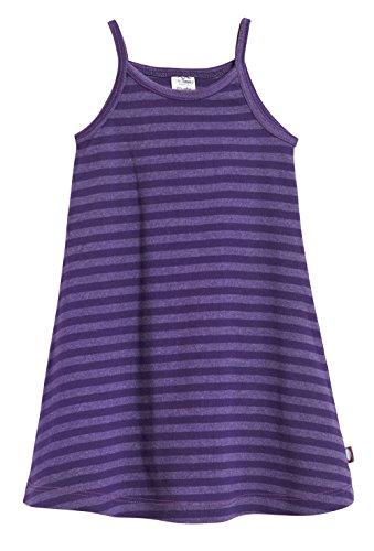 City Threads Little Girls' Summer Dress Cami Camisole Spaghetti Strap Maxi Slip No Sleeve Dress For Sensitive Skin or SPD Sensory Friendly, Striped Purple, 6