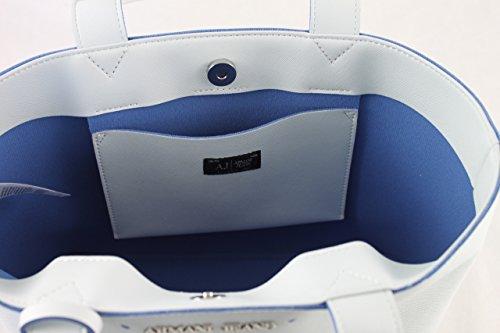 Armani Jeans Tasche Henkeltasche Shopper Bag 0524U weiß Größe: B 30 x H 25 x T 12
