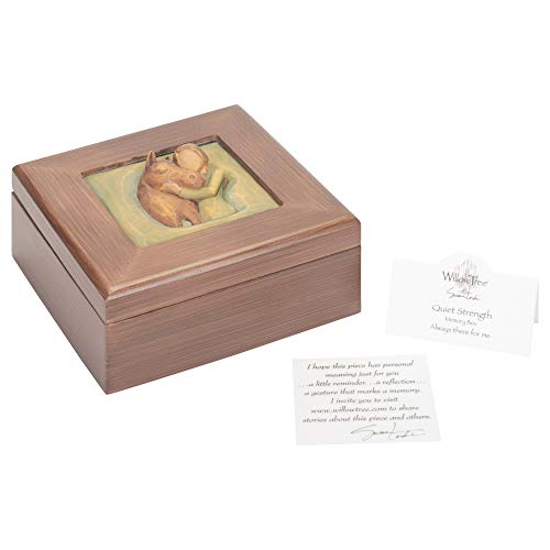 - Willow Tree Hand-Painted Sculpted Memory Box, Quiet Strength